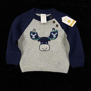 NWT 6/12M Boys Gymboree Moose Sweater
